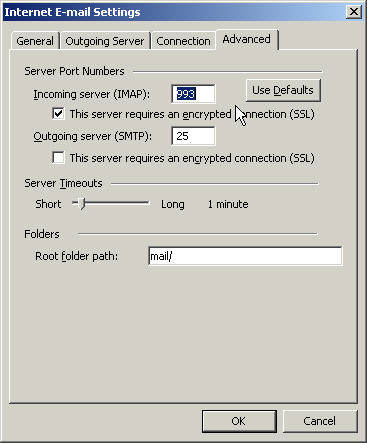 how to change mail deliver location for outlook 2003